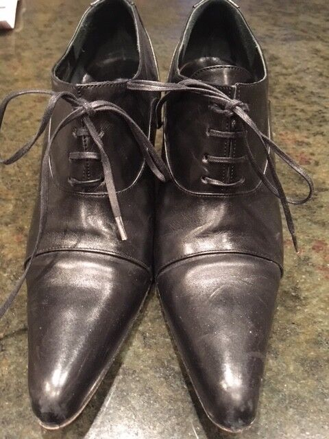 Diego Dolcini schwarz Lace up Leder Schuhes 750 Made in , 38