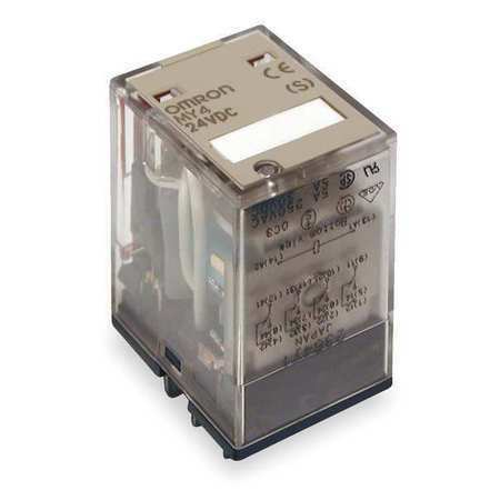 Plug In Relay,14 Pins,Square,24VDC OMRON MY4N-DC24 S