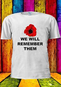 Poppy-Day-Remembrance-Annual-8th-T-shirt-Vest-Tank-Top-Men-Women-Unisex-2186