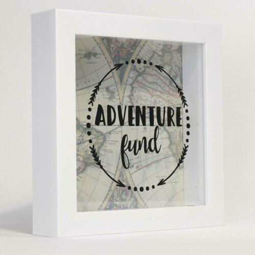 Same Shipping Any Qty Lawrence 8x8 Adventure Fund Shadow Box White
