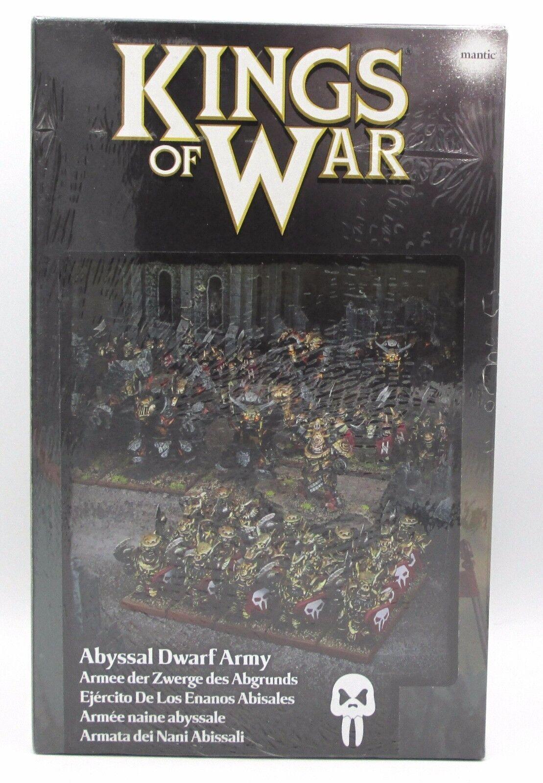 Kings of War MGKWK110 Abyssal Dwarf Army (Abyssal Dwarfs) Evil Chaos Dwarves NIB