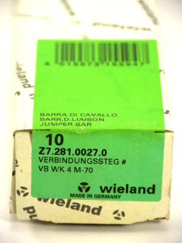 Wieland connessione STEG z7.281.0027.0 Jumper bar VB WK 4 m-7010 PZ.Ovp