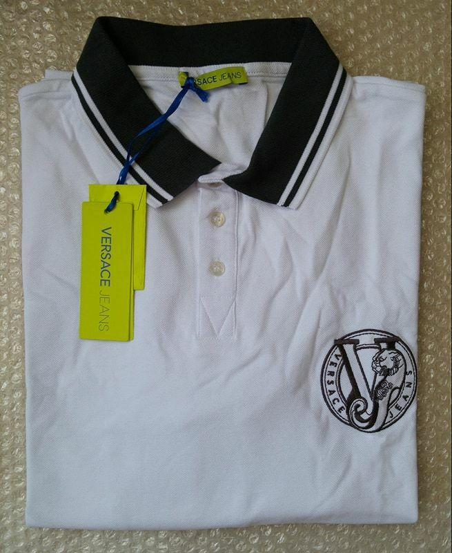 Versace Jeans men's polo shirt embroidered logo size 3XL (56IT)