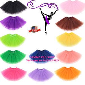 Women-039-s-Adult-Dancewear-Tutu-Mini-Ballet-Pettiskirt-Princess-Party-Skirt