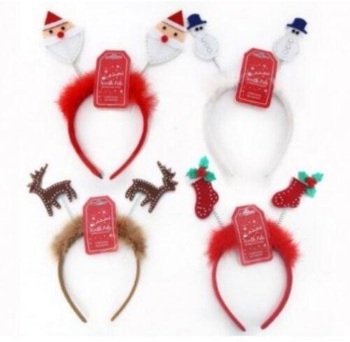 Natale Headbopper KIDS ADULTO Fasce Testa Bopper Novità Divertente Costume UK