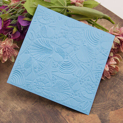 seafood Embossing folders Plastic Embossing Folder For Scrapbooking DIY card  BW