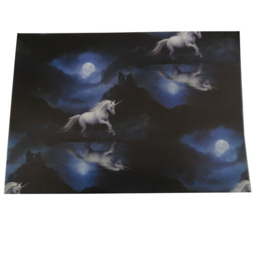 Official Anne Stokes Gift Wrapping Paper and Cards,Greenman Unicorn Fairy
