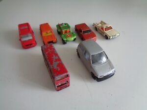 Set-di-7-VINTAGE-MATCHBOX-CORGI-BURAGO-CINQUECENTO-VOLVO-245-Baja-Holden-TITAN