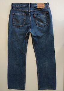 Levi-039-s-751-W32-L30-jeans-azules-clasico-rectos-excelentes-USA
