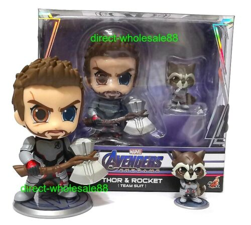 Hot Toys Avengers Endgame Thor /& Rocket Cosbaby