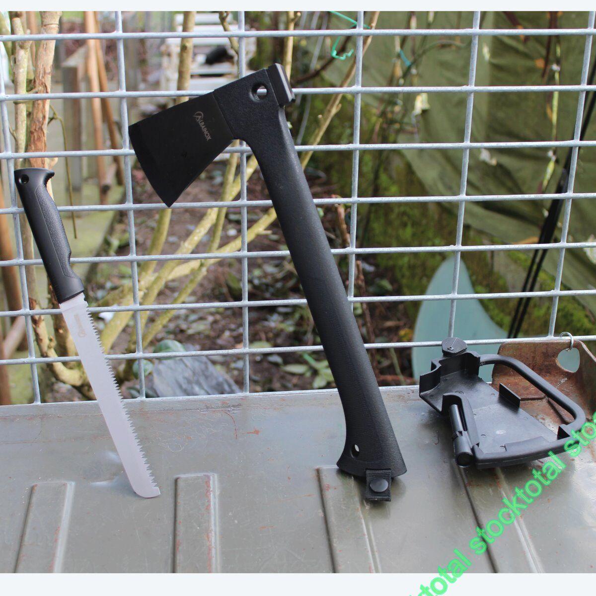 Hacha  Outdoor  con pedernal y sierra 32038 Mango  ABS