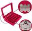 24 Grids Glass Ring Jewelry Display Storage Box Jewelry Holder Storage Organizer