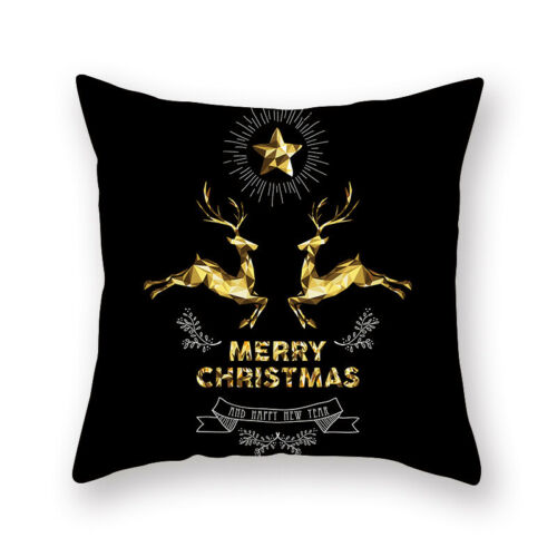 Weihnachtskissenbezug Glitter Peach Skin Sofa Dekokissen Home Decor Yd
