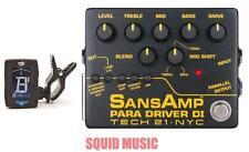 Tech 21 NYC Sansamp Para Driver DI Preamp Pedal V2 100%  Analog ( FREE TUNER )