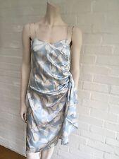 Valentino Roma Rare silk sleeveless bow print ruffle dress Size I 42 UK 10 US 6