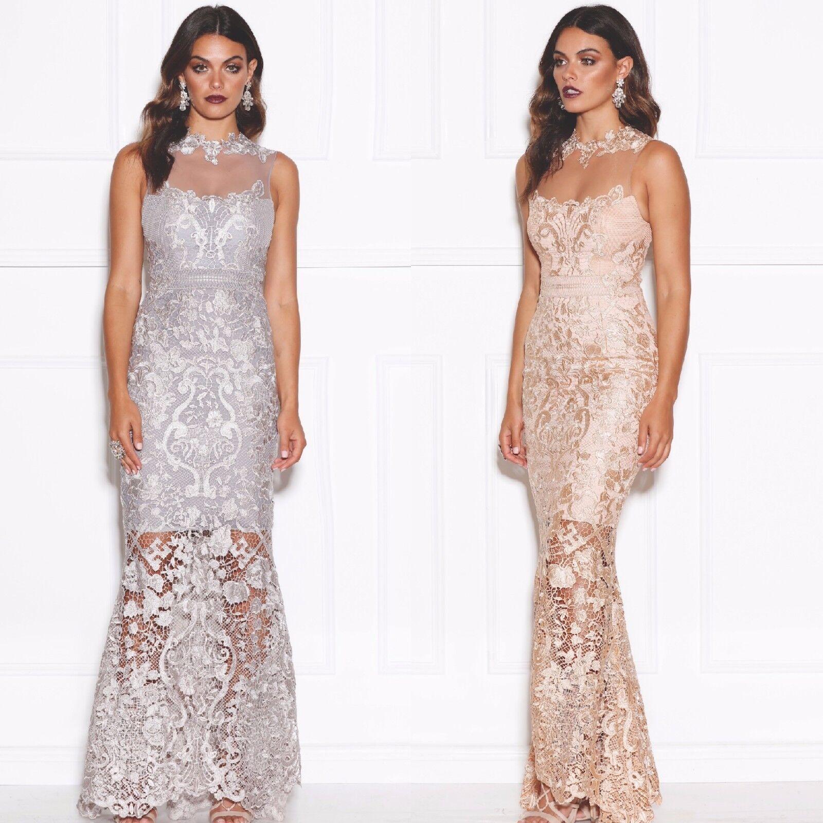 lyx design spets lång balklänning aftonklänning kvinnor klär sig