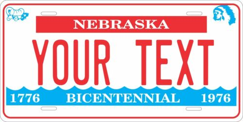 Nebraska 1976-83 License Plate Personalized Custom Auto Bike Motorcycle Moped