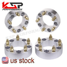 "(4) 2"" Wheel Spacers 5x5.5 For Ford F-150 E-150 Bronco Jeep CJ Dodge Ram 1500"