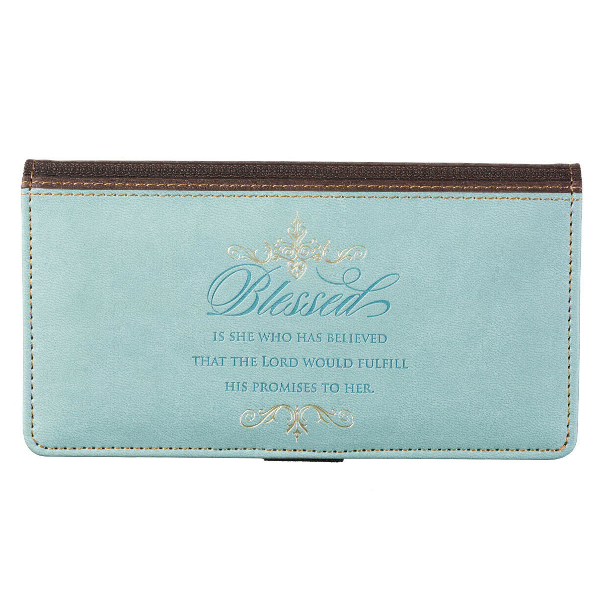 Checkbook Cover Blessed is She Who Has Believed Luke 1:45 BRAND NEW