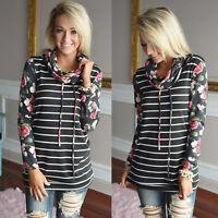 Women Loose Long Sleeve Sweater Ladies Sweatshirt Jumper Pullover Tops Blouse UK
