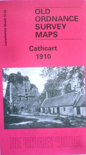 OLD ORDNANCE SURVEY MAPS CATHCART LANARKSHIRE SCOTLAND 1910 Godfrey Edition New