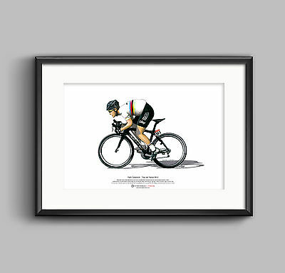 Mark Cavendish - Tour de France 2012 ART POSTER A3 size