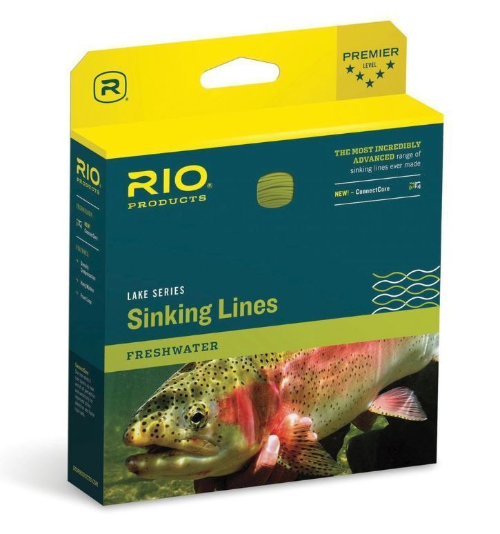 RIO SINKING LINE InTouch Deep 5 Fly Fly Fly Line WF7S5  NEW  Dark grau  CLOSEOUT db2537