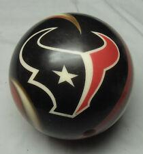 10# Bowling Ball Brunswick Viz-A-Ball NFL RARE Houston TEXANS LOGO Drilled Small