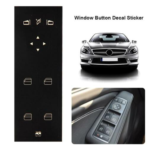 Window Repair Switch Button Decal Stickers for Mercedes-Benz W204 C250 C300 C350