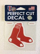 "Boston Red Sox 4"" x 4"" Sox Logo Truck Car Auto Window Die Cut Decal Team Colors"