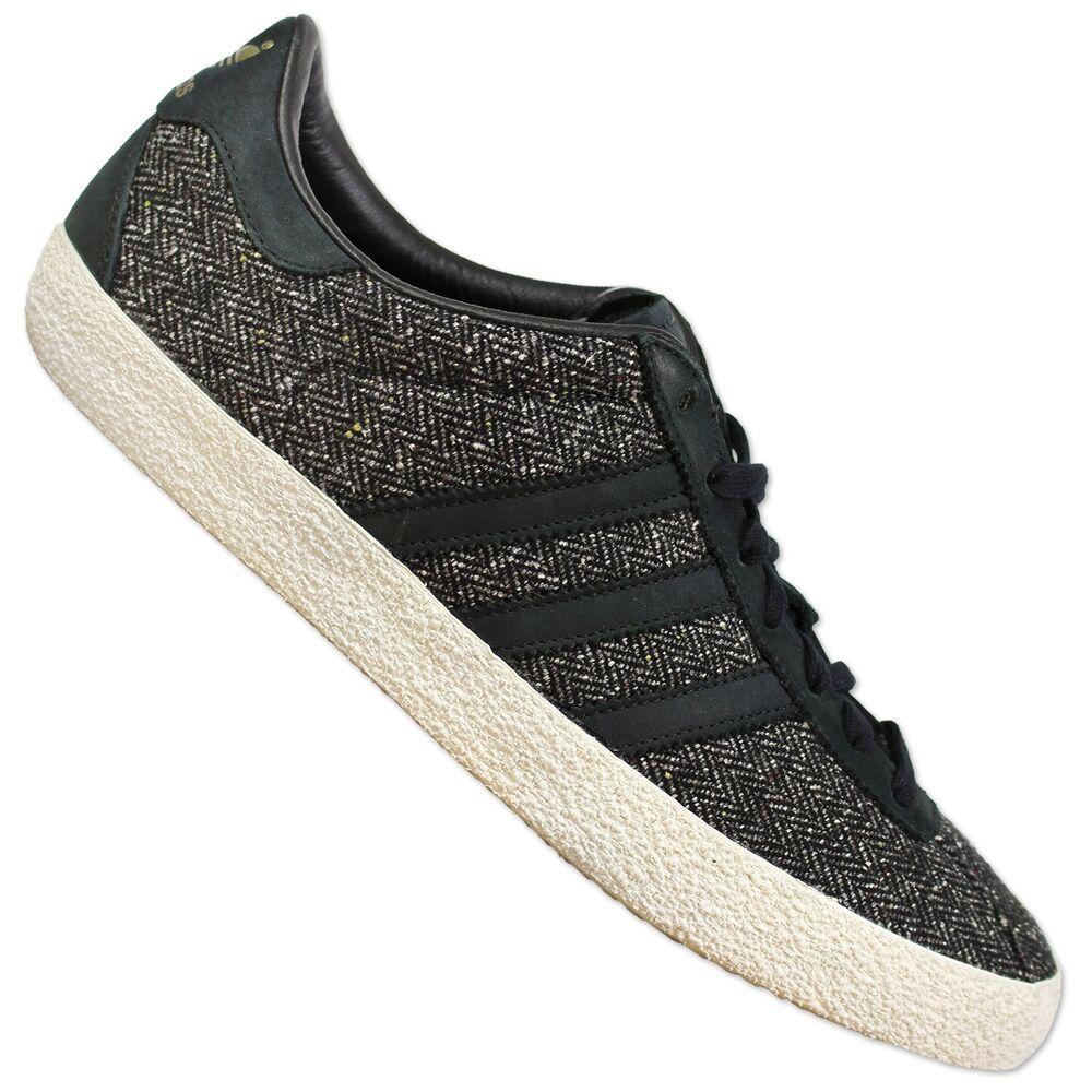 Adidas Originals Gazelle 70s Basket B24981 Wild Chaussures en Cuir Tweed Noir