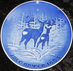 1965 BING & GRONDAHL / ROYAL COPENHAGEN PIATTO DI NATALE TOP PRIMA SCELTA