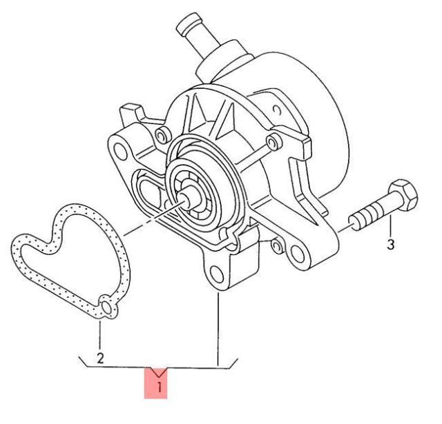 Buy Genuine Vacuum Pump Vw Beetle Golf R32 Gti Rabbit Jetta Variant