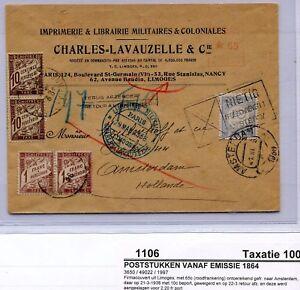 1938-onvold-gefr-envelop-Limoges-Amsterdam-geweigerd-retour-Fr-NL-PORT