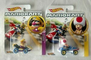 Details About 2019 Hot Wheels Mario Kart Wario Toad Character Cars 1 64 Htf