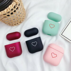 For-Apple-AirPods-2-1-Matte-Cute-Heart-Couple-Earphone-Protector-Hard-Case-Cover