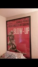 """Vintage Italian """"Blow Up"""" poster in frame , great condition 6feet tall and 3-4w"""