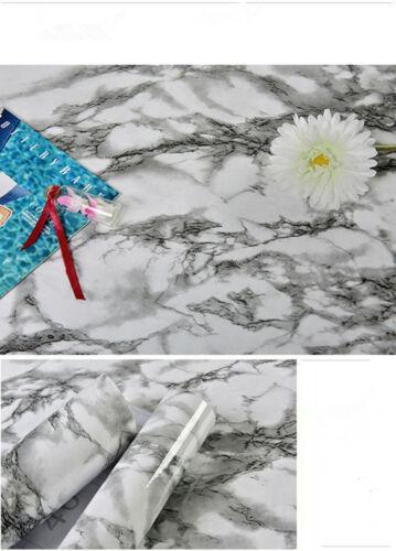 Gris /& Marbre Blanc Papier Peint Autocollant Meuble Cuisine Meubles Film de protection
