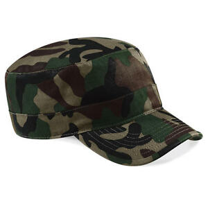 Beechfield-Camouflage-Snapback-Cap-Muetze-Army-Tarnfarben-Cappy-Unisex
