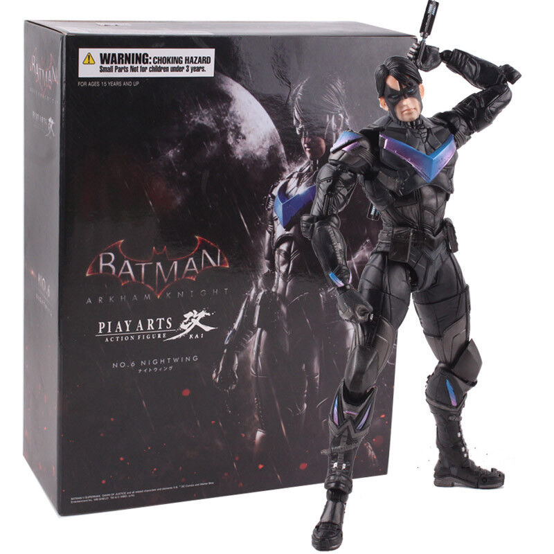 Batman arkham ritter spielen kunst kai nightwing pvc - actionfigur modell.
