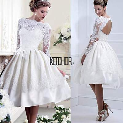 Sexy Lace Dress Long Sleeve Bridesmaid Evening Formal Party Cocktail Prom Gown