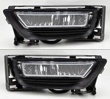Honda Accord 2013-2015 4dr Sedan Clear Front Glass Fog Lights Pair w/ wiring