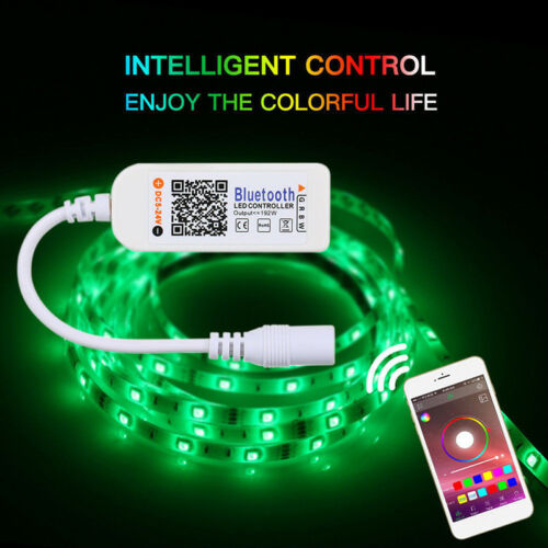 Mini Bluetooth//Wifi LED Controller/&Remote For 5050 3528 RGB//RGBW LED Strip Lig B