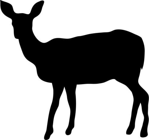 Deer Doe Silhouette Vinyl Car Window Laptop Decal Sticker