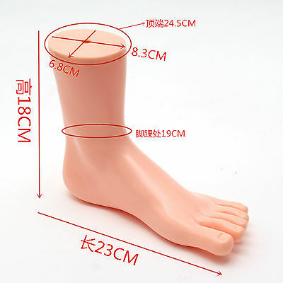 1pc New Unisex Feet Mannequin Plastic Stand Socks Torso Dummy Right Foot NUDE