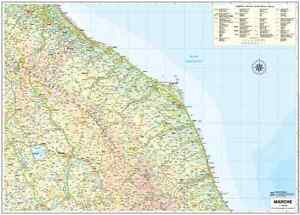 Cartina Marche Geografica.Carta Geografica Murale Regione Marche 85 X 64 Cm Belletti Cartina Ebay