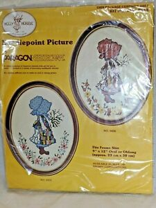 Vintage-Paragon-Needlecraft-0436-Holly-Hobbie-Needlepoint-Picture-NEW