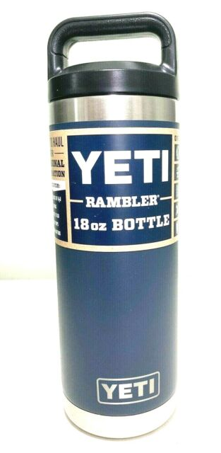 YETI Rambler 18 oz Bottle Vacuum Insulated Stainless Steel TripleHaul Cap Navy