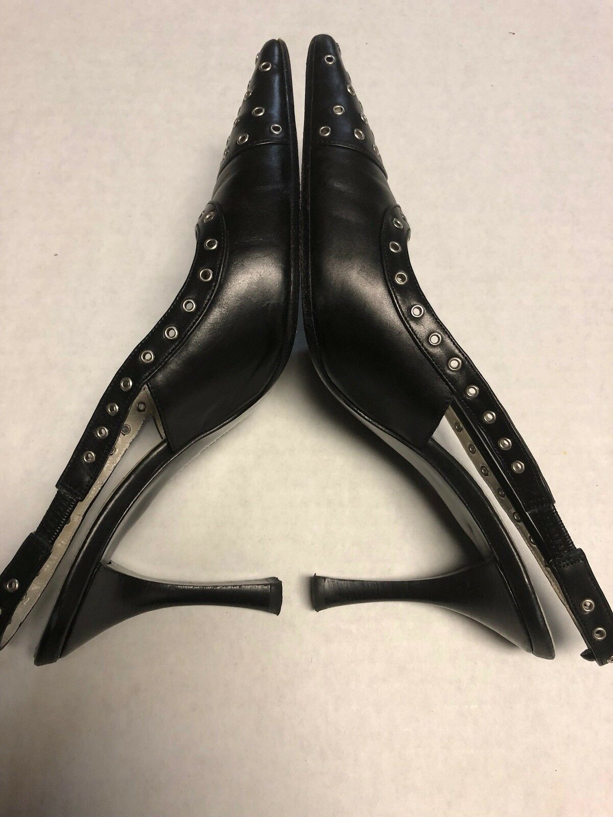 Adrienne Vittadini Claudia Shoes Black Pointy Pumps With High Heels Size 6 1/2