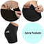 thumbnail 3 - CAMBIVO High Waist Yoga Pants for Women, Non See through Workout Leggings with 2